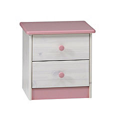 Georgia 2-drawer Chest of Drawers Pink and White