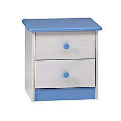 Atlanta 2-drawer Chest of Drawers Blue and White