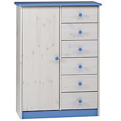 Atlanta Combi Wardrobe Blue and White