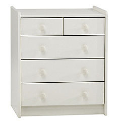 Montreal 5-drawer Chest of Drawers White