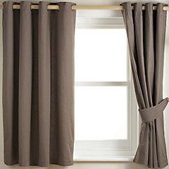 Tu Plain Mink Canvas Curtain
