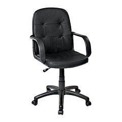 Tu Leather Faced Office Chair