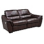 Porto Large Chocolate Leather Recliner Sofa