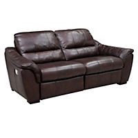 Porto Regular Chocolate Leather Recliner Sofa