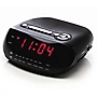 "Red AM/FM 0.6"" LED Alarm Clock Radio"