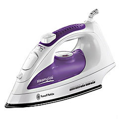 Russell Hobbs 15207 2200W Steamglide Iron White and Purple