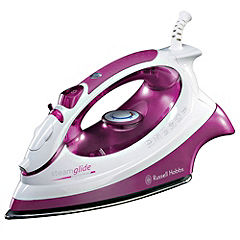 Russell Hobbs 14733 2400W Steamglide Iron Pink and White