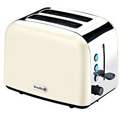 Breville Stainless Steel 2 Slice Toaster Cream