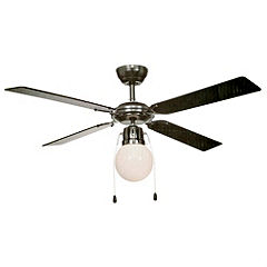 Black Chrome Ceiling Fan