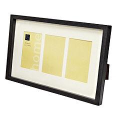 Tu Faux Leather 3-apperture Box Frame