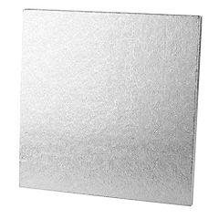 "Tala 14"" Square Silver Cake Board 12mm Thickness"