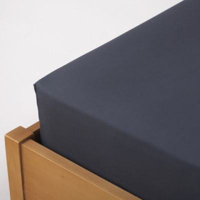 Tu Denim Blue Non-iron Fitted Sheet - image 1