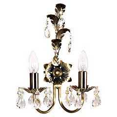 Orinoco 2-light Wall Light Antique Brass