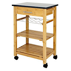 Ethos Butcher Block Trolley with Granite Top