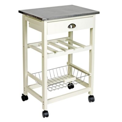 Ethos Cream Trolley with Stainless Steel Top - image 1