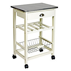 Ethos Cream Trolley with Stainless Steel Top