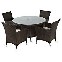 St Tropez 5-piece Garden Furniture Set
