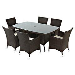St Tropez 7-piece Garden Furniture Set