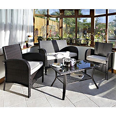 Rowlinson Rattan Effect 4-piece Garden Furniture Set