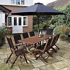 Rowlinson Hardwood 10-piece Garden Furniture Set
