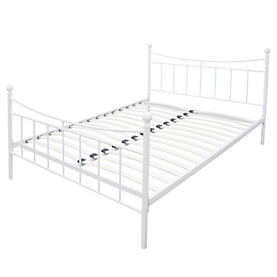 Elizabeth White Metal Double Bedstead