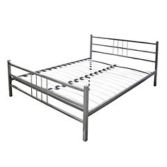 Maria Double Chrome-plated Bed
