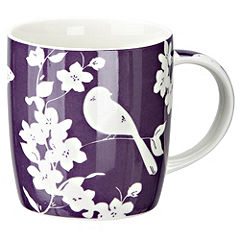 Tu Purple Bird Design China Mug