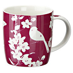 Tu Pink Bird Design China Mug