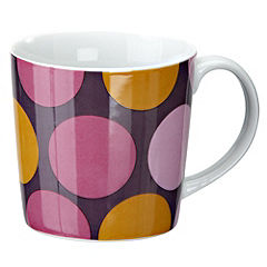 Tu Purple Spots Porcelain Mug
