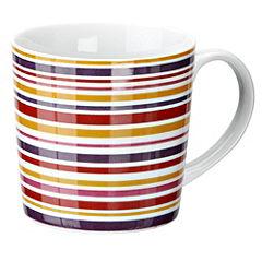 Tu Purple Stripes Porcelain Mug