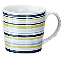 Tu Blue Stripes Porcelain Mug
