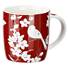 Tu Red Bird Design China Mug