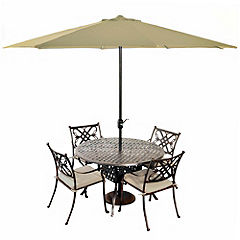 Bellagio Trieste 120cm Cast Aluminium 4-seater Garden Set Bronze