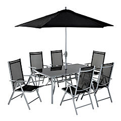 Capri 9-piece Garden Set Black