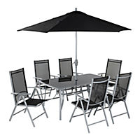 Capri 8-piece Garden Set Black