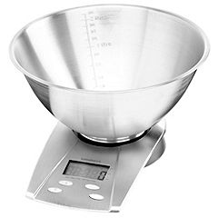 Sainsbury's Stainless Steel Bowl Electronic Kitchen Scales
