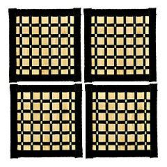 Tu Black Bamboo & Cotton Coaster 4-pack