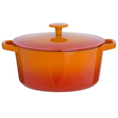 Cook's Collection Orange 3L Cast Iron Casserole Dish - image 1