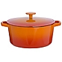 Cook's Collection Orange 3L Cast Iron Casserole Dish