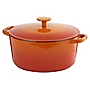 Cook's Collection Orange 5L Cast Iron Casserole Dish