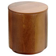 Sainsbury's Acacia Wood Biscuit Barrel