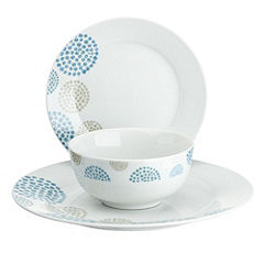 Tu Blue Pebble Porcelain 12-piece Dinnerware Set