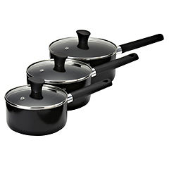 Sainsbury's Aluminium Non-stick 3-piece Pan Set