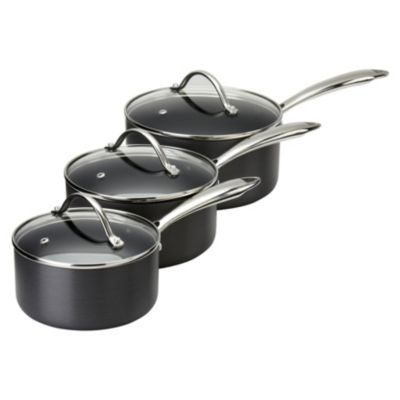 Cook's Collection Hard Anodised 3-piece Pan Set - image 1