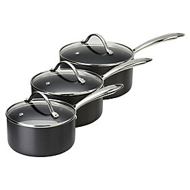 Cook's Collection Hard Anodised 3-piece Pan Set