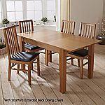 Mix and Match Chunky Oak Extending Dining Table