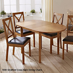 Mix and Match Oak Butterfly Extending Dining Table