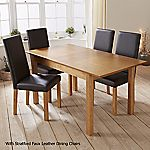 Mix and Match Slim Oak Extending Dining Table
