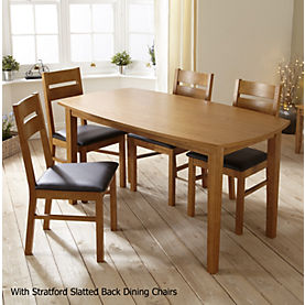 Stratford Contemporary Fixed Top Dining Table