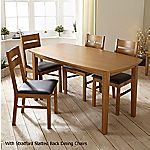 Mix and Match Oak Contemporary Fixed Top Dining Table